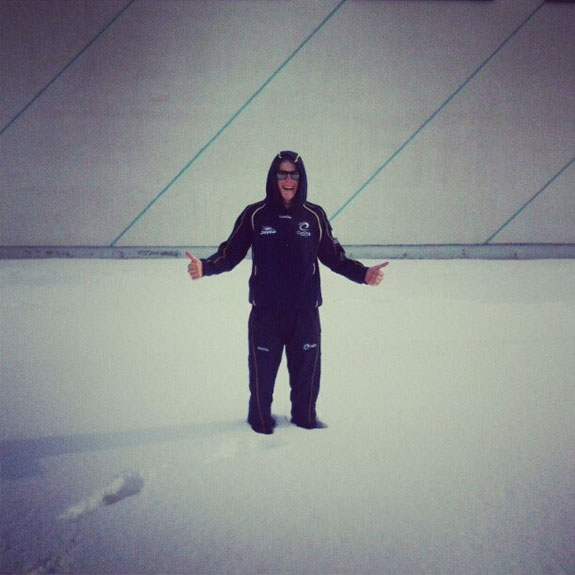 """""""Snow outside the track in Minsk."""""""