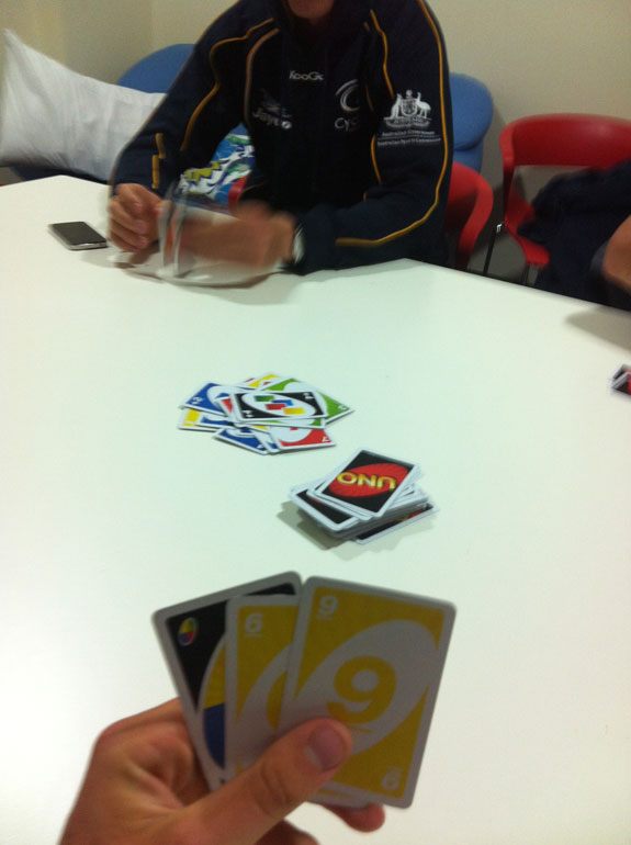 """High stakes UNO. Did, in fact, have to do the 'Weet-Bix Challenge' when I lost. Eating two dry Weet-Bix solely on their own was not a fun activity – well, for me anyway! The others thought it was hilarious."""