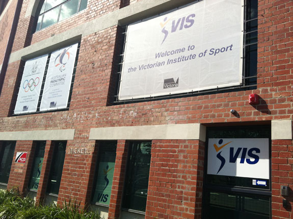 """The Victorian Institute of Sport. Absolutely fantastic place and I'm so grateful for their continued support."""
