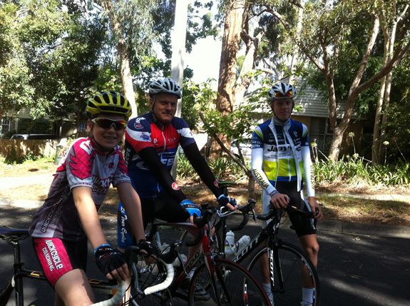 """""""Brother Hugo, Dad and myself before a ride to the Kew Boulevard and back."""""""