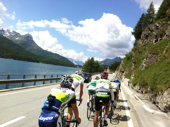 """""""Riding around the Lake in St Moritz. A very beautiful place."""""""