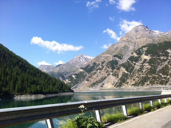 """""""At the end of the tunnel out of Livigno."""""""