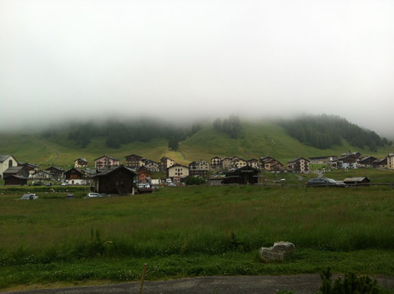 """""""In the clouds on the final day in Livigno."""""""
