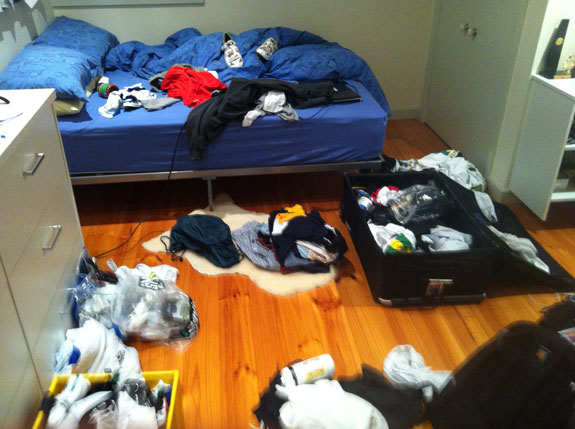 """""""Packing again... Don't even know where to start."""""""