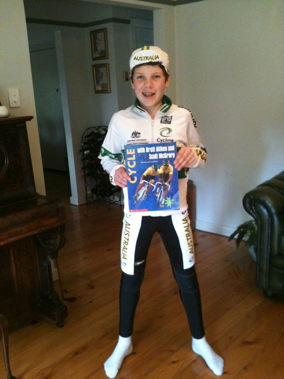 """""""Brother Harry going to school book day as Scott McGrory. At least it's original...! Funnily enough I read that book cover to cover back when I was in primary school. Never in my wildest dreams did I think I would ever end up working with Scott."""""""