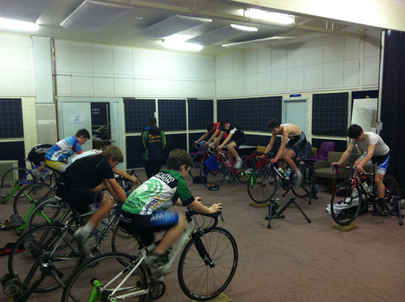 """""""Back where it all started: Blackburn Cycling Club ergo session. It was great to come along and give some encouragement (and hopefully inspiration) to the next crop coming through."""""""