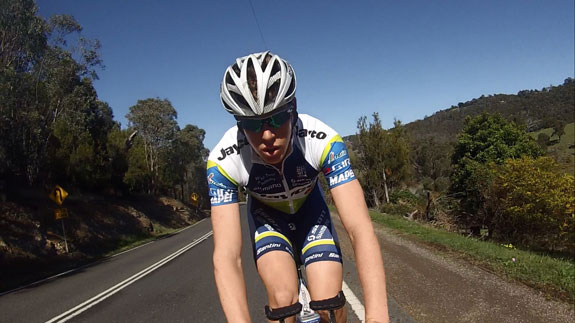 Out doing some TT training through the Yarra Valley behind the motorbike. Love going training in this beautiful part of Victoria.