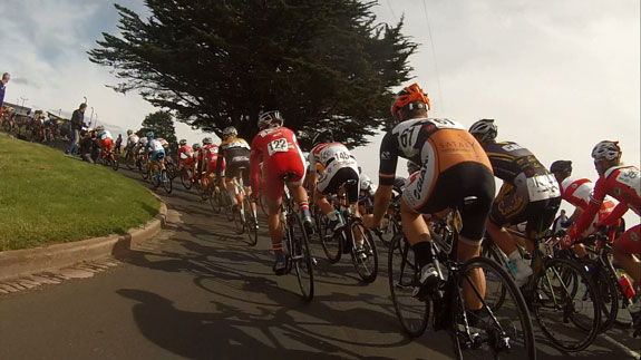 Final crit in the Tour of Tasmania...