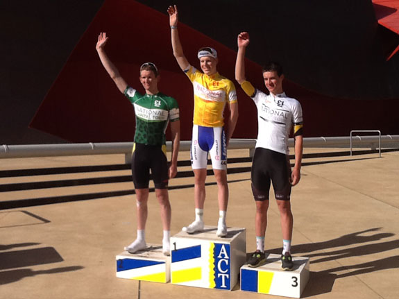 Interviews  and podium. Goal achieved! First in stage one of the National Capital Tour...