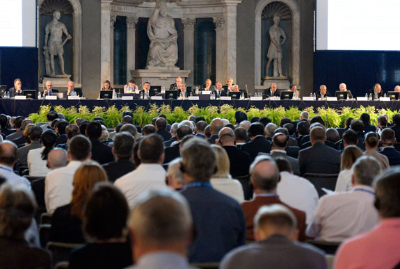 Inside the Palazzo Vecchio in Florence on the day of the UCI congress meeting, 27 September 2013. Photo: Graham Watson