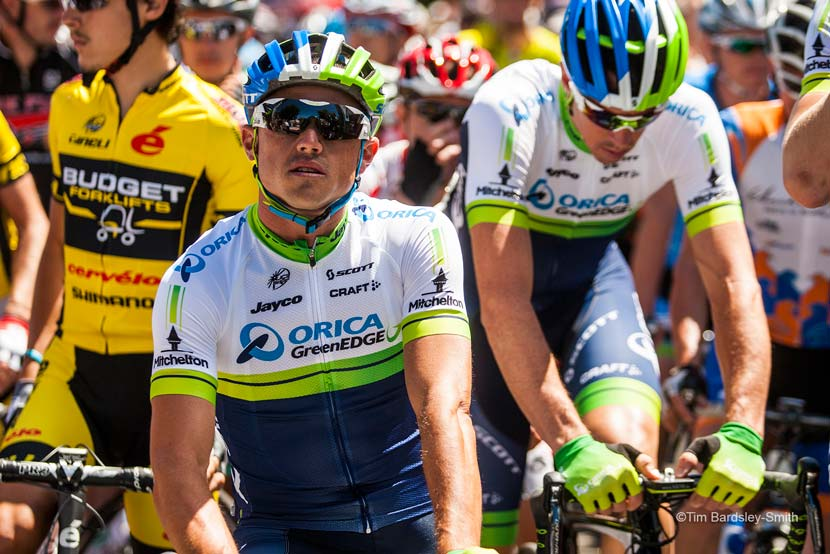 The eventual winner... Simon Gerrans before the start of the national championship road race. Photo: Tim Bardsley-Smith