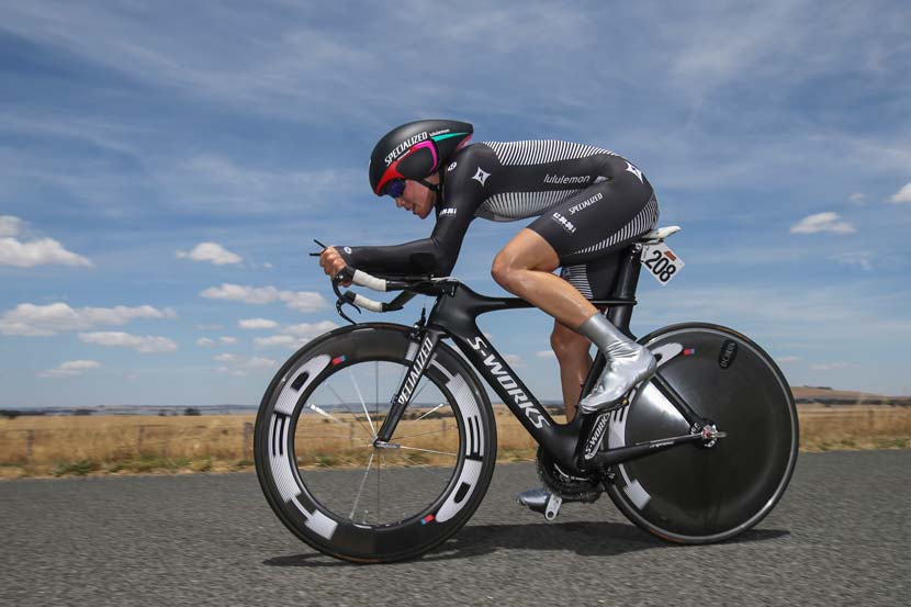 Tiffany Cromwell on her way to fourth in the national championships TT. Photo: Mark Gunter