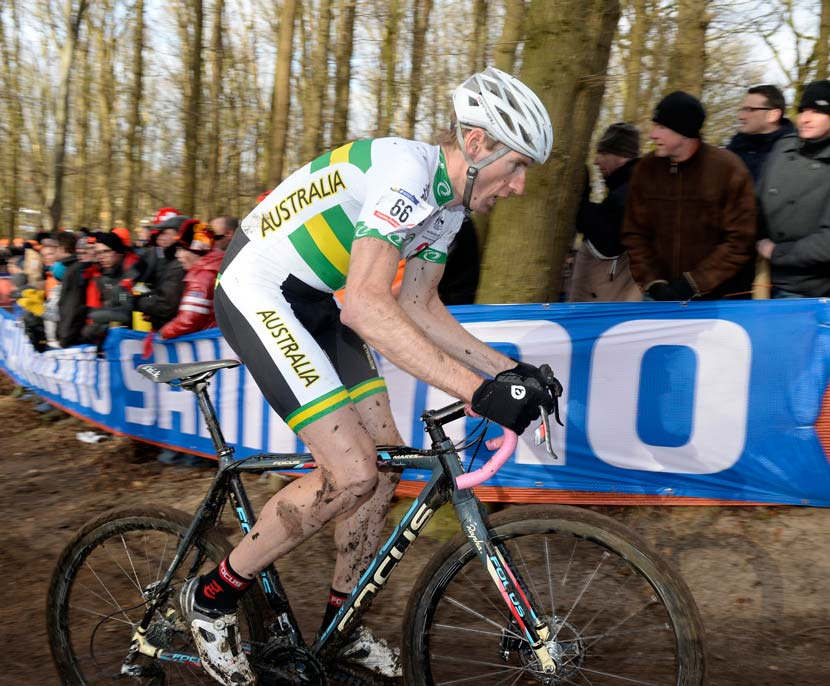 Nick Both competing in the 2014 cyclocross world championships.  Photo: Graham Watson