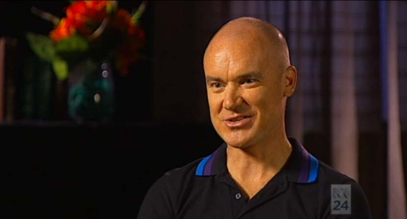 O'Grady during his discussion with Jane Hutcheon for ABC's 'One Plus One' program (broadcast 26 February 2014).