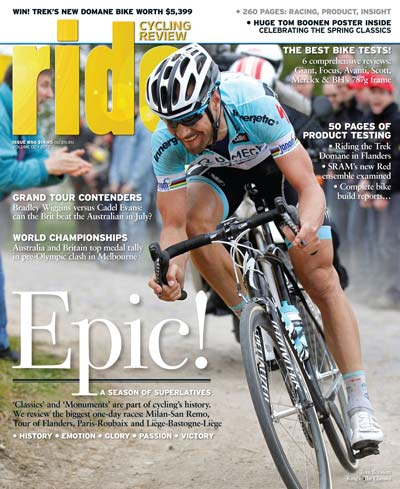 RIDE #56, published in May 2012, featured an overview of the Spring Classics. (Buy it now as an e-magazine via the Zinio store.)