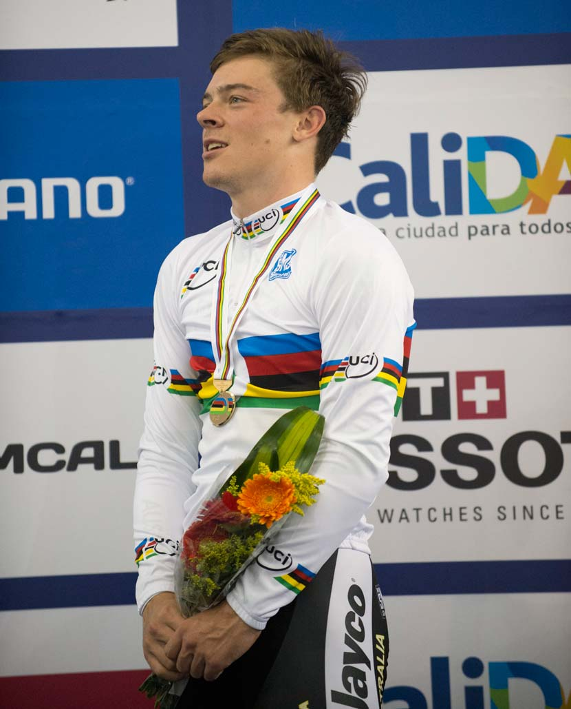 Satisfaction... a second world title in two days for Edmondson. Photo: Graham Watson