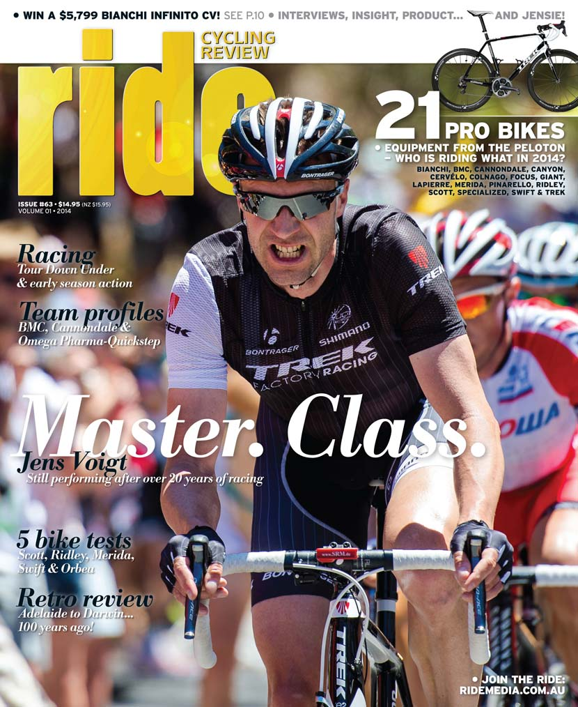 RIDE Cycling Review is published four times a year. The first issue of 2014 is now on sale around Australia.