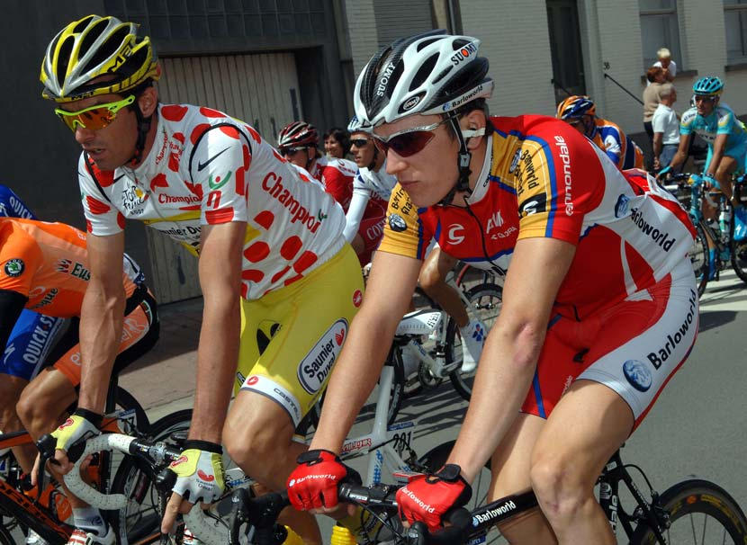 Geraint Thomas and David Millar at the 2007 Tour de France. The Welshman was the youngest rider in the race that year. Photo: Graham Watson