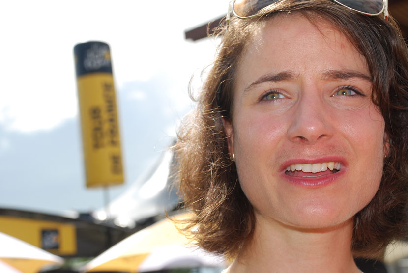 Marianne Vos in Mulhouse before stage 10 of the Tour de France... Photo: Rob Arnold