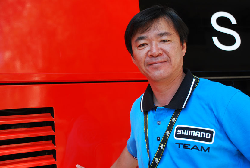 Manabu Tatekawa, Shimano's manager of planning for the bicycle component division, is encouraging his engineers to create a camera that will be able to broadcast HD images live... and, he believes, it may happen as early as the second-generation of the Sport camera.  Photo: Rob Arnold