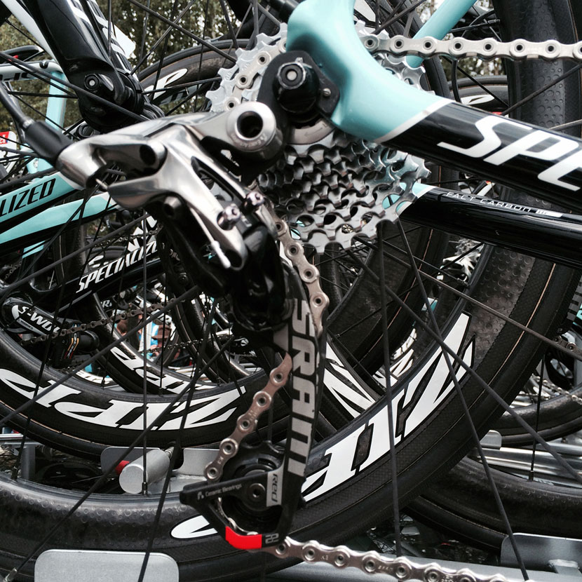 SRAM's WiFLi rear derailleur... Photo: Rob Arnold