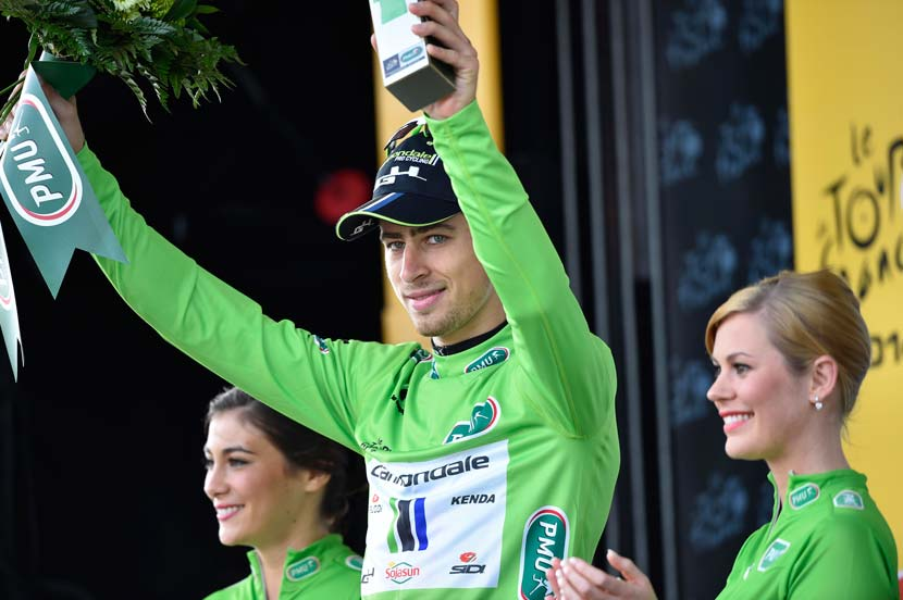 Peter Sagan would win the green jersey for the third successive year... but not a stage. Photo: Yuzuru Sunada