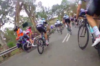 On board with Jeremy Roy at the Tour Down Under