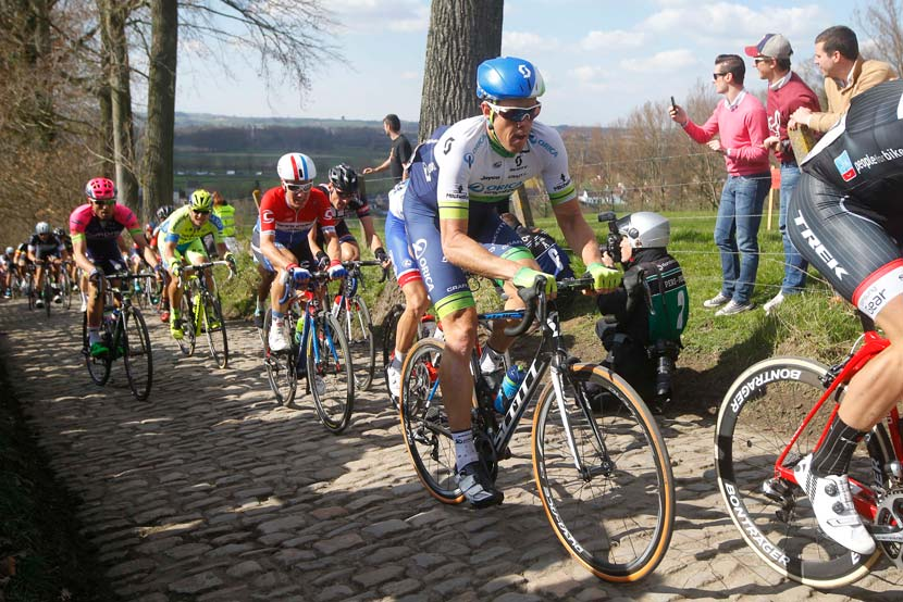 Mathew Hayman in the Ronde van Vlaanderen. Photo: Yuzuru Sunada