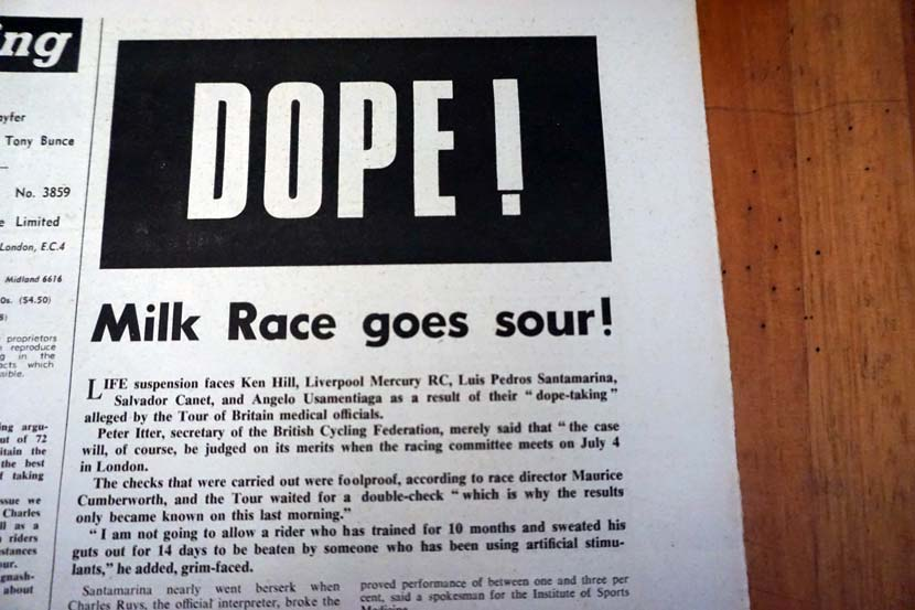 Positive for amphetamine... the scandal that rocked the British Milk Race 50 years ago.