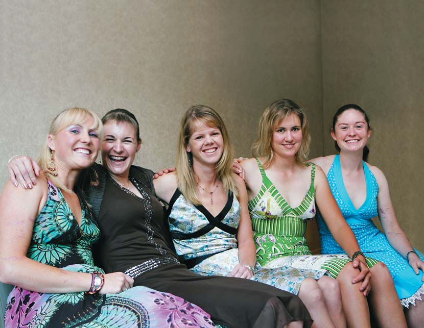 From left to right: Katie Brown, Louise Yaxley, Lorian Graham, Alexis Rhodes and Kate Nichols.