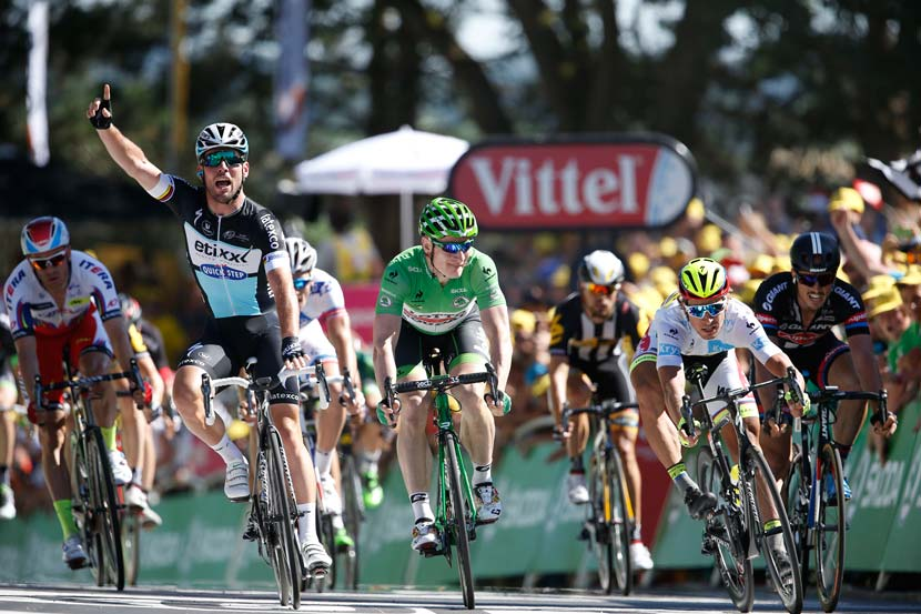Cavendish claims his 26th Tour de France stage win. Photo: Yuzuru Sunada