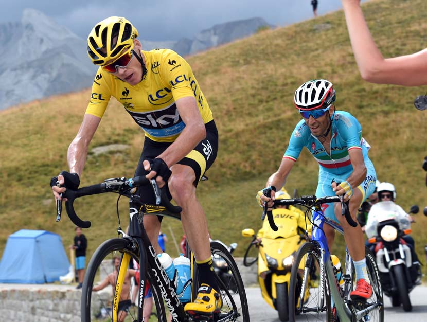 Froome admits that his position is rather unorthodox but he's worked hard on achieving a style that allows him to breathe better. Photo: Graham Watson