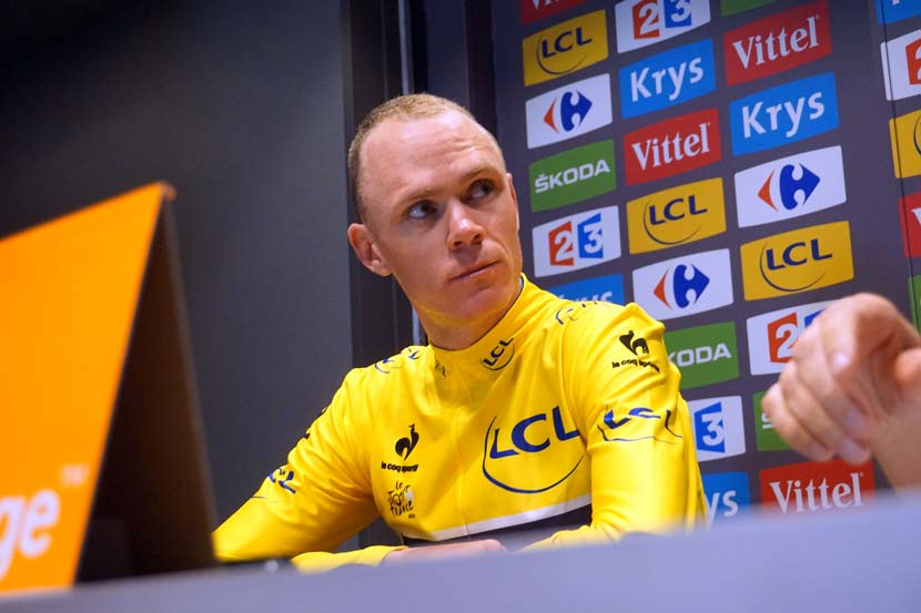 Chris Froome leads the 2015 Tour by 11 seconds after eight stages. Photo: Rob Arnold