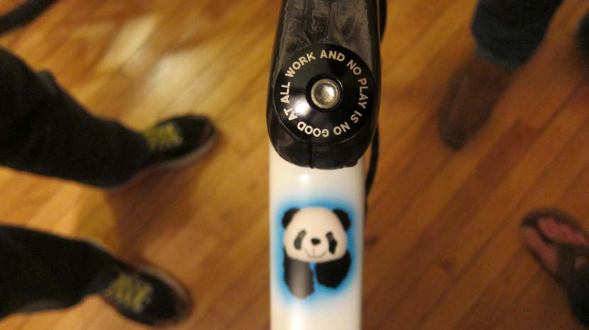 Custom touches... the bike of Tania Burke, the president of Trek Travel. Photo: James Stout