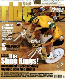 RIDE #10, published in October 2000, featured Aitken and McGrory on the cover.