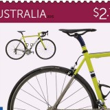 Cycling on Australia Post stamps