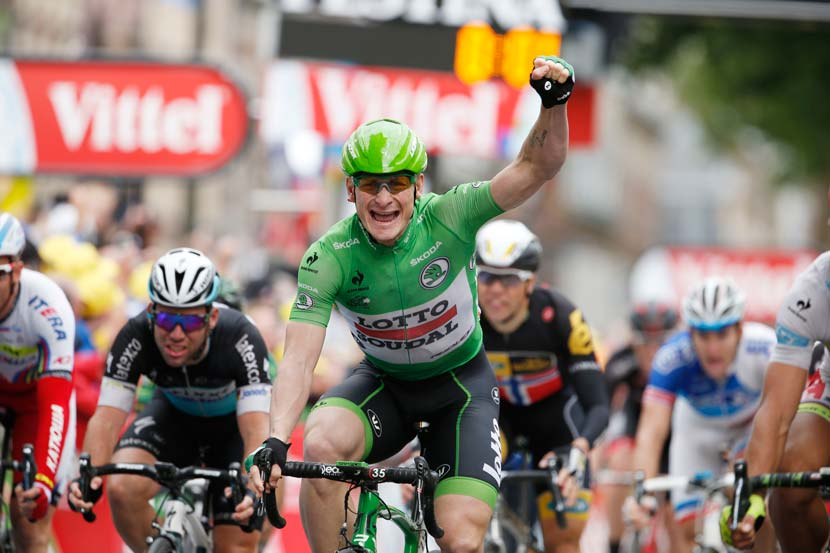 The second of four stage wins for André Greipel in Le Tour of 2015. Photo: Yuzuru Sunada