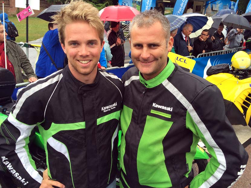 Jack and Seb, comrades for a day. Posing before the start of stage five.
