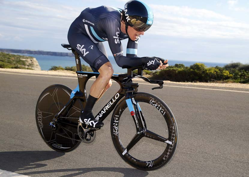Thomas was third in the TT of the Volta ao Algarve – behind Fabian Cancellara and Tony Martin. Photo: Graham Watson