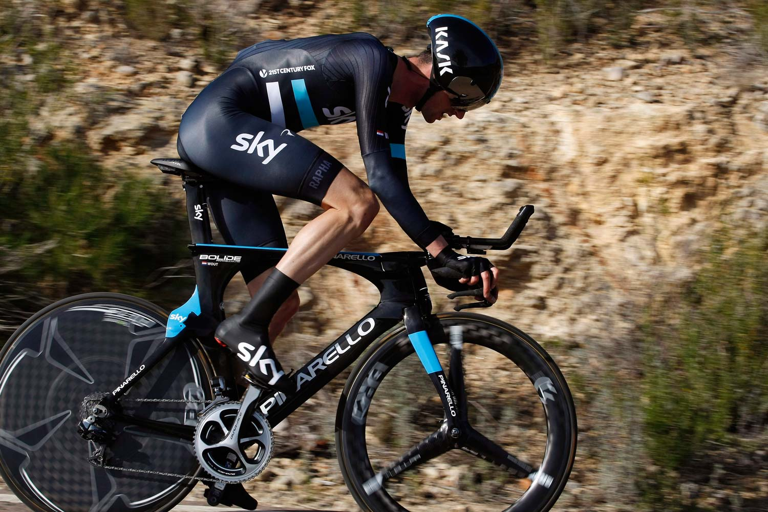 Wout Poels on his way to a TT win in Spain. Photo: Graham Watson