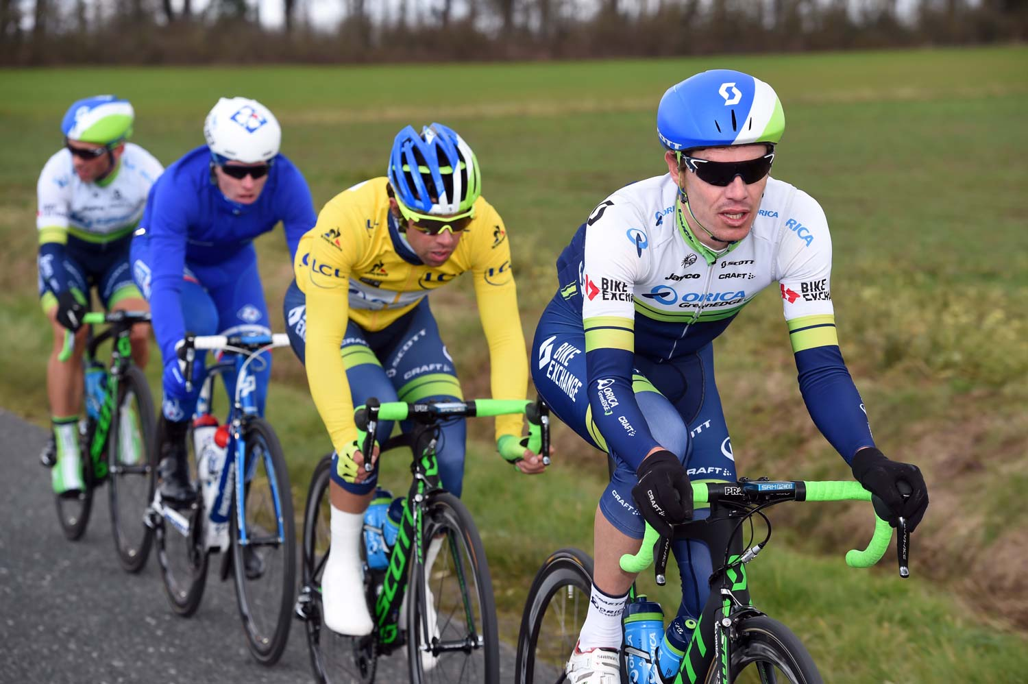 Daryl Impey (pictured leading Matthews during Paris-Nice) will be one of the key assets for OGE in Milan-San Remo.