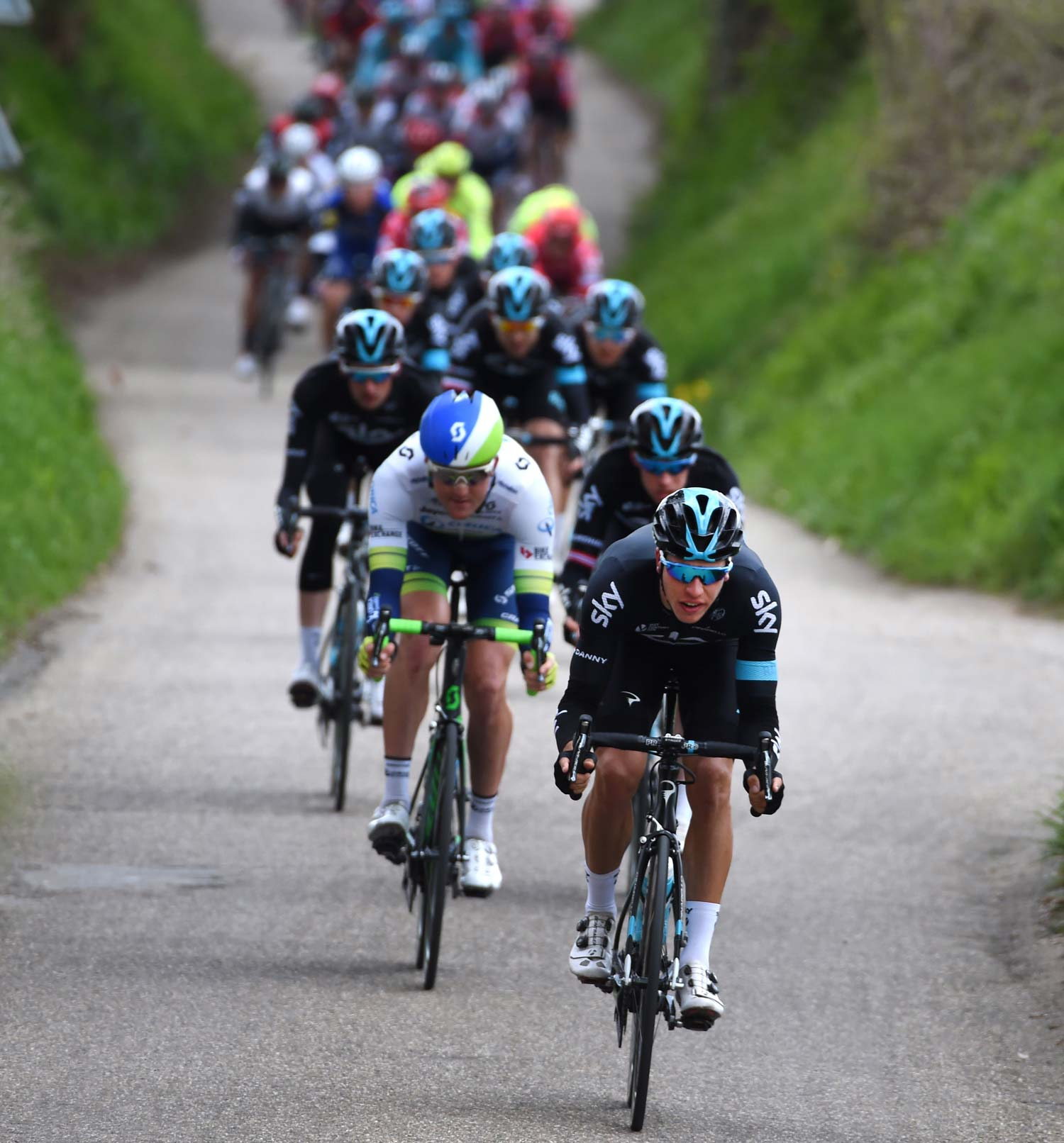 Team Sky was dominant at the front of the peloton for much of the race but there was little reward. The best of the British team? 28th place. Photo: Graham Watson