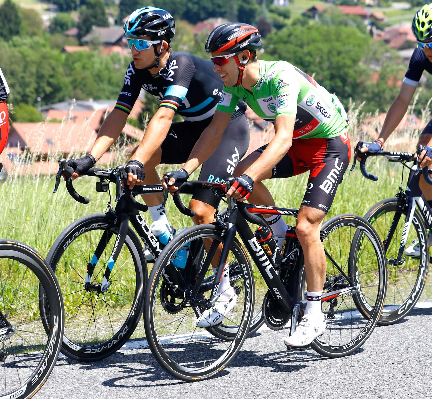 After his second place (behind Alberto Contador) in the uphill prologue TT at the Dauphiné, Porte spent a day in the green jersey. Photo: Graham Watson