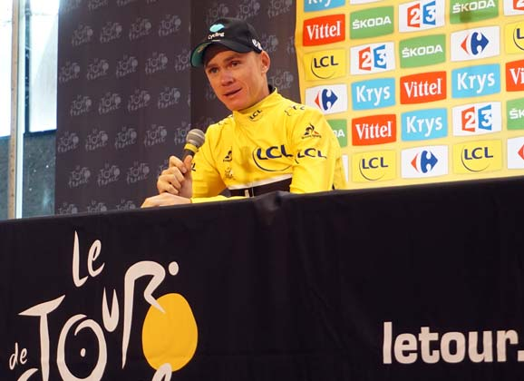 Yellow jesey: Chris Froome set for a third Tour title