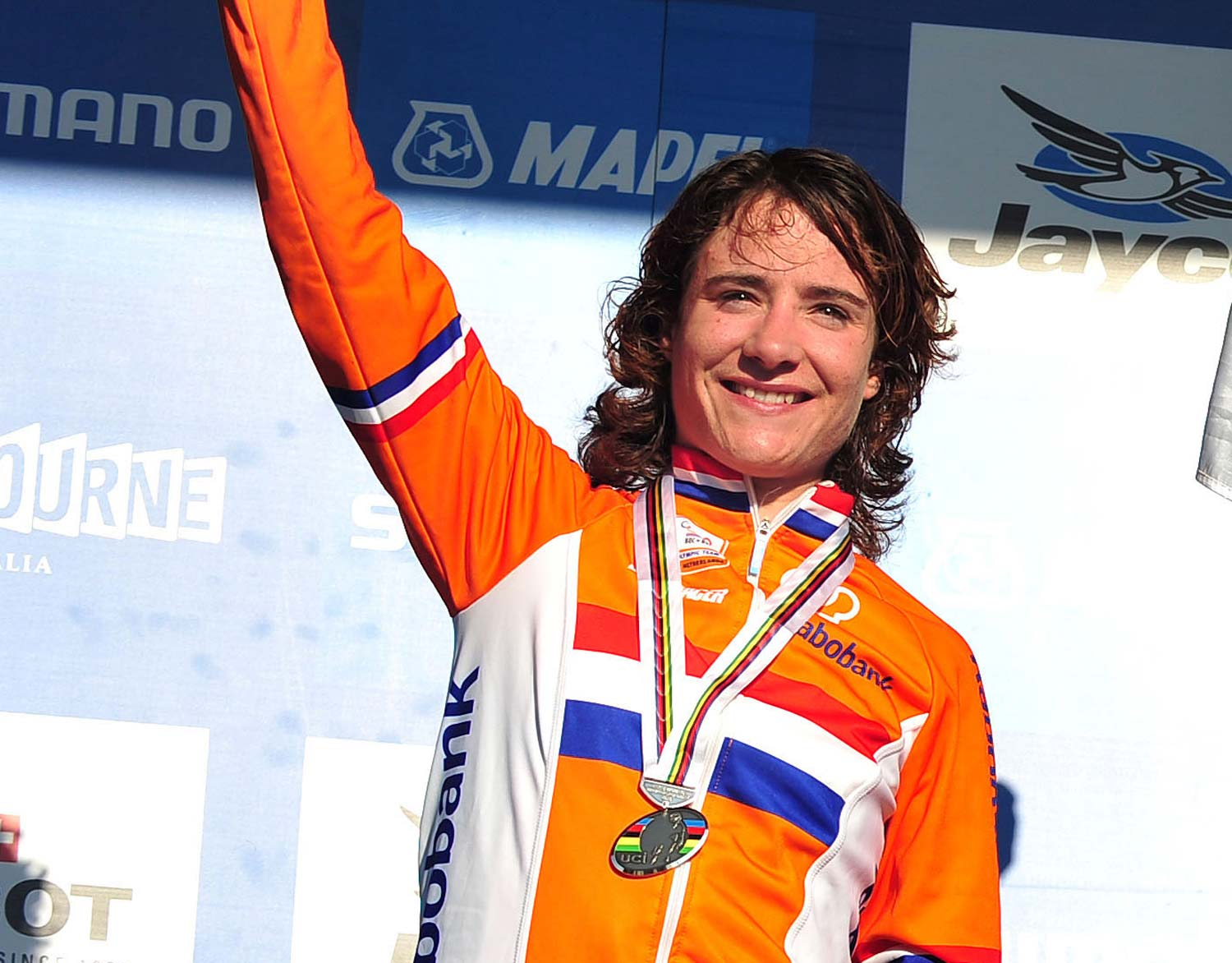 Marianne Vos during her visit to Australia in 2010 when she was second in the world championships. Photo: Sport – The Library