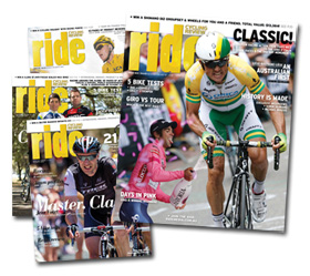 The covers of issues 61 to 64 of RIDE Cycling Review