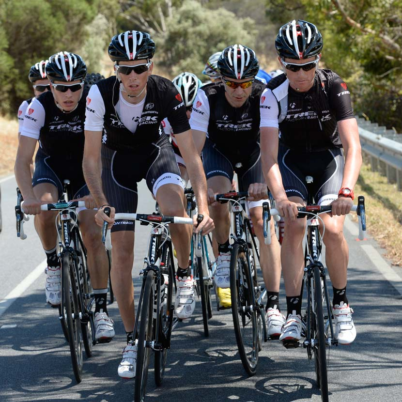 The Trek Factory Racing team formed a training bunch of its own in the days leading up to the Tour Down Under this January. Photo: Graham Watson.