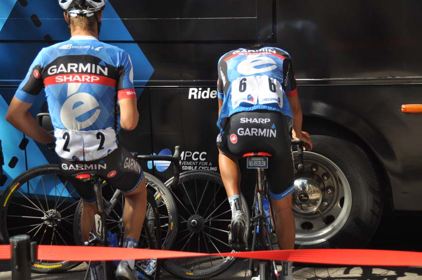 """No problem""... Lachlan warms up for a stage of the Tour of Utah in 2013. He'd win a stage and lead the GC."