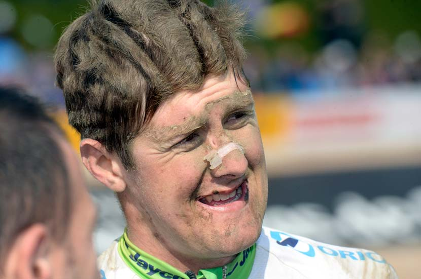 Durbridge: 90th in 2014, 10 minutes behind the winner, another former team pursuit ride Niki Terpstra. Photo: Graham Watson