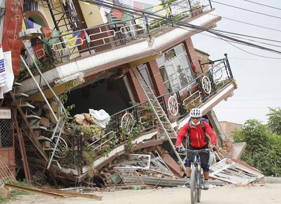 Cycling into devastation: the Nepal earthquake